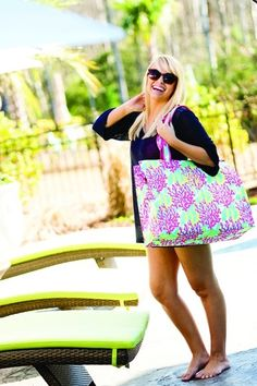 Monogrammed Reef Beach Bag, Free Shipping!
