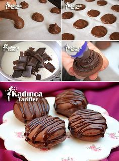 Macaron Cake Recipe, How To – Womanly Recipes - Top Of The World Donut Recipes, My Recipes, Cookie Recipes, Dessert Recipes, Ramadan Desserts, Mini Desserts, Macaroons, Macaroon Cake, Chocolate Cookies