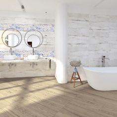 Série dlažby v imitaci dřeva a světlých obkladů s květinovým dekorem. Nostalgia vynikne v malých i velkých koupelnách. #keramikasoukup #koupelnyodsoukupa #inspirace #inspiration #serienostaliga #nostalgia #bilakoupelna #white #scandinavian Nostalgia, Luxor, Clawfoot Bathtub, Bathroom, Design, Washroom, Full Bath, Bath