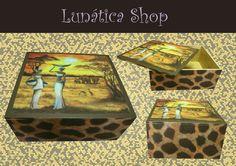Caja decoupage jirafas