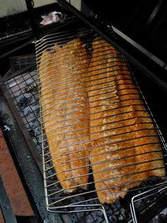 Salmon de 5 kg a la parrilla