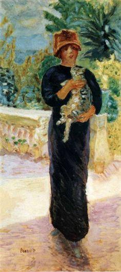 Pierre-Bonnard-1912-Marthe--la-Chatte