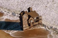 Nights in Rodanthe house by helicopter