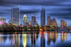 """Austin, Texas - Live Music Capital of the World.  Austin has been described to me as """"a little blue island in a sea of red.""""  I think that description fits quite well and for that reason, I feel quite comfortable with the idea of potentially calling Austin home.  Photo by Evan Gearing (flickr: egearing)."""