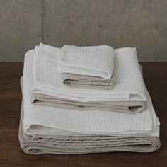 Linen Waffle Towels: White.  Bought these at Merci in Paris and I MUST HAVE MORE!!!