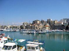 Crete... waterfront in Heraklion, Greece