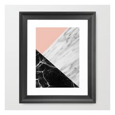 Marble Collage Framed Art Print (1,565 DOP) ❤ liked on Polyvore featuring home, home decor, wall art, art, framed art prints, framed wall art, black framed wall art, photo illustration, marble home decor and photo collage wall art