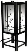 Cranes in Flight Lamp (Black Finish)