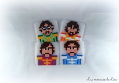 The Beatles coasters hama beads by LasmoneriasdeLisa