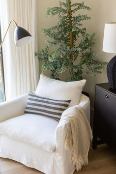 Crestview home tour | lark & linen Bedroom Reading Nooks, Bedroom Nook, Master Bedroom, Bedroom Ideas, Vintage Nightstand, Curved Sofa, Studio Mcgee, Thing 1, Bedding Shop