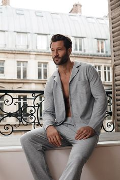 #meybodywear #Fashion #menswear #Shirt #interior #Grey #paris #Pyjama