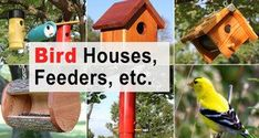 How to Hang a Birdhouse: Tips on Location, Mounting, & Placement Wooden Bird Feeders, Wooden Bird Houses, Bird Houses Diy, Bird Feeder Plans, Bird House Feeder, Diy Bird Feeder, Bird House Plans Free, Bird House Kits, Homemade Bird Houses