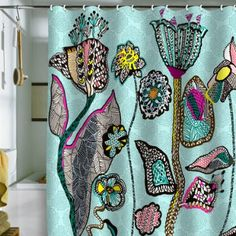 DENY Designs Mikaela Rydin The Garden within Shower Curtain, 69 by 72-Inch