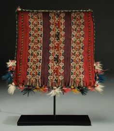 Chuspa Bag-- these are bags that men from Bolivia fill with coca leaves while working in the Andes Mountains.