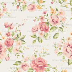 'Vintage Peach Roses' Photographic Print by junkydotcom