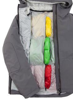 Veste homme Colmar Originals de la ligne Research en tissu très opaque laminé avec compartiments en plume amovibles - Colmar