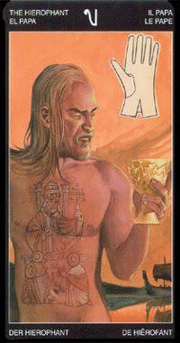 V. The Hierophant - Tattooed Tarot by Pietro Alligo, Cristiano Spadoni