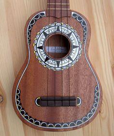 Northbound Nine Soprano Ukulele-- maybe draw a compass around the center? Ukulele Art, Ukelele, Ukulele Songs, Guitar Art, Painted Ukulele, Ukulele Design, Guitar Painting, Music Promotion, Music Stuff