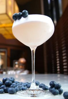 Recipe: Afina Royale Blueberry Cocktail from Four Seasons Hotel Vancouver, YEW seafood + bar.