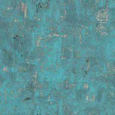 Tapete für das Bad - Vliestapete Beton Optik petrol türkis verwittert Steinwand Galerie Wallpaper, Cosy House, Texture Art, Where The Heart Is, Ebay, Painting, Vintage, Home, Capsule Wardrobe