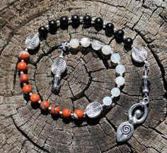 Magickal Ritual Sacred Tools:  Triple Goddess Maiden Mother Crone Pagan #Prayer #Beads.