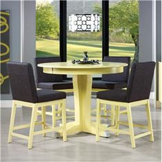 Canadel Custom Dining - High Dining Customizable Counter Table Set - TRN4848+4xSTO8002