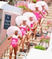 The recent Beverly Hills Hotel & Bungalows 100th anniversary bash kicked off with a performance by the Aqualillies, a troupe of water ballerinas.