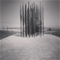 Our next #FindingBoyd clue doesn't look like much from a distance. In fact, it looks like 50 steel poles of different heights randomly arranged! Found in the KwaZulu-Natal Midlands, if you approach the sculpture, it starts to form a face! If you know the location, please click on the link in our profile to enter our competition to win a Samsung Galaxy Tablet. #SouthAfrica #Dunlop #Durban #CapeTown #Johannesburg #Competition #Win