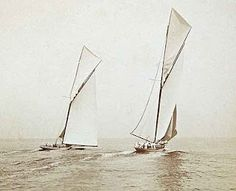 Sailingboats off Sandy Hook, USA, 1903.