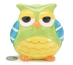 Amazon.com - Whimsical Ceramic Hoot Owl Piggy Bank
