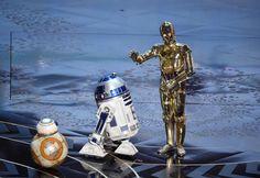 BB-8, R2-D2 and C-3PO #Oscars2016