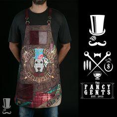 FancyGents - Custom Made Aprons Tattoo Studio, Restaurant Uniforms, Custom Aprons, Apron Designs, Gun Holster, Leather Craft, Custom Made, My Style, How To Wear