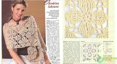 #Crochet wrap, pretty flower pattern  Scarves #2dayslook #anoukblokker #susan257892 #Scarves  www.2dayslook.com