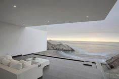 modern geometric house design built around the view