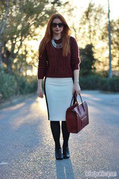 Burgundy on B&W 7- outfit - DoYouSpeakGossip.com