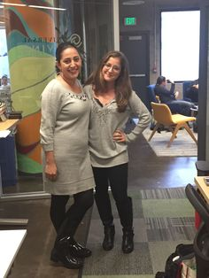 Those who work together, dress together! Armine and Michelle from Corporate Client Services! Funny day at the office!