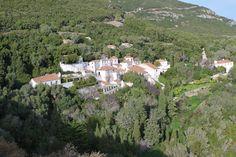 Convento da Nossa Senhora da Arrábida in Setúbal. At the heart of Arrábida, half way down the south slope, we find the Convent of Santa Maria Arrábida, founded 1542 by a Franciscan rigorist order.
