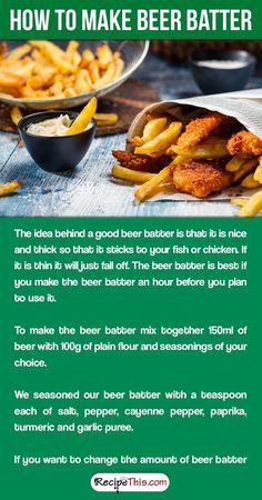 Slimming    World Beer Battered Fish & Chips Fakeaway (how to make beer batter)