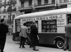 Old Bibliobus, Madrid, Spain.