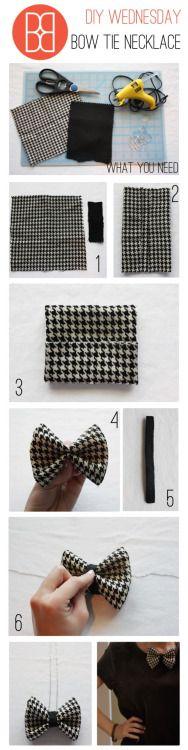 DIY Bow tie necklace