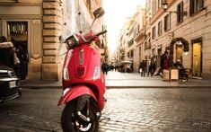 Vespa near the Spanish Steps in Rome, Italy