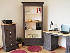 W jaki sposób zaaranżować biuro? Prowansalskie meble do biura i salonu. Dwukolorowa kolekcja Prowansja #drewniane #prowansalskie #biuro #aranżacje #sosnowe