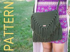 The Jethro Bag Pattern  crochet bag pattern  by helloredrubi