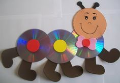 15 great craft ideas for children - Crafts with CDs for Easter – 15 craft ideas perfect for spring You are in the right place about fl - Crafts With Cds, Kids Crafts, Recycled Cd Crafts, Animal Crafts For Kids, Crafts To Sell, Art For Kids, Easy Crafts, Diy And Crafts, Arts And Crafts