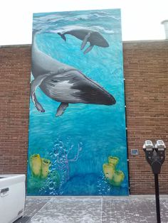 Whimsy of Whales at Art Explored in Royal Oak Michigan.  Visit my mural at Qdoba Mexican Grill around the corner on 3rd Street.