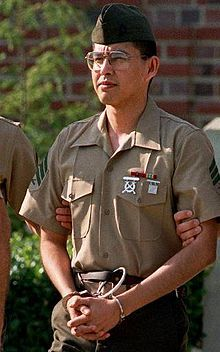 "Lonetree is the first US Marine to be convicted of spying against the USA. Stationed in Moscow as a guard at the US Embassy in the early 1980s, he confessed in 1987 to selling documents to the Soviet Union. Entrapped by a 25 yr. old female Soviet officer named ""Violetta Seina"".  Then Blackmailed for US Secret Docs,  including the blueprints of the US Embassy in Moscow and Vienna. He puked up the names and identities of US Intel Agents in the Soviet Union. Convicted of Espionage on Aug 21…"