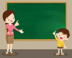 Background For Powerpoint Presentation, Powerpoint Background Templates, Classroom Background, Kids Background, Vector Background, Teacher Classroom Decorations, Classroom Board, Teacher Picture, Teacher Cartoon