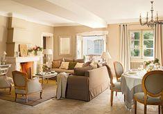 Decoração de: Sala de estar; cadeira medalhão cinza; Casa de Valentina