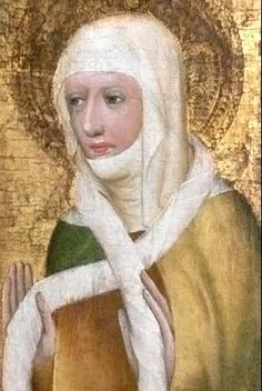 St Ludmila. (another face of sophia) meister theodoricus karlstejn castle czech republic