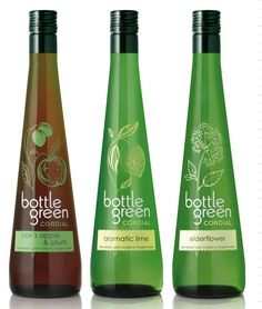 Whether it is the use of the drink color, the material of the bottle or even the graphics of the labeling, these bottles are great examples of creative packaging. Juice Packaging, Beverage Packaging, Bottle Packaging, Pretty Packaging, Packaging Ideas, Sparkling Drinks, Label Design, Package Design, Graphic Design